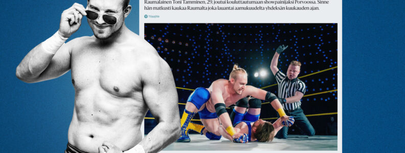 Showpainija Toni Tamminen Hesarissa.
